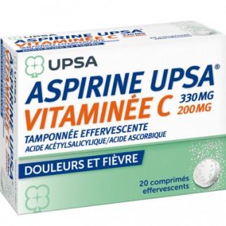UPSA ASPIRINE VITAMINEE C 330MG/200MG 20CP EFFERVESCENTE