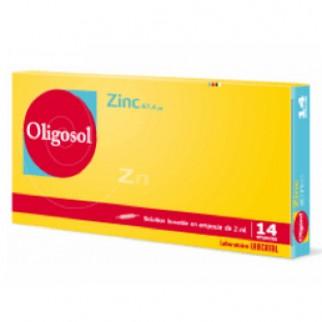OLIGOSOL ZINC 14 AMPOLLAS 2ML