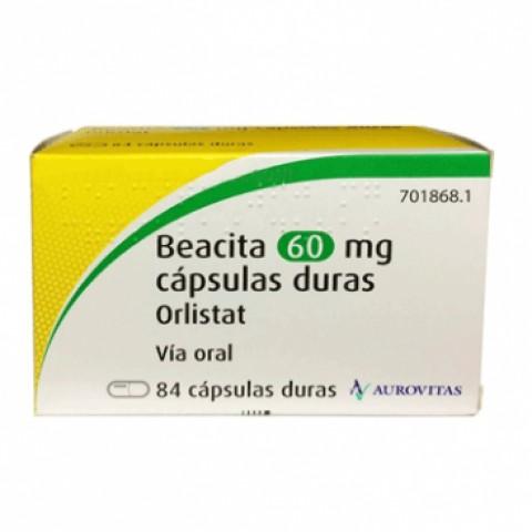 BEACITA ORLISTAT AUROVITAS 60MG  84CAP DURAS