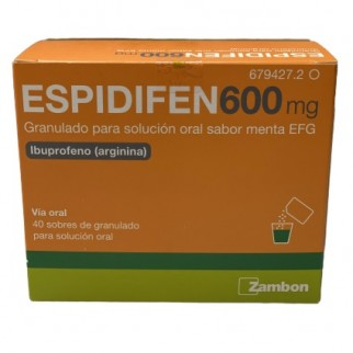 ESPIDIFEN 600 MG 40 SOBRES MENTA
