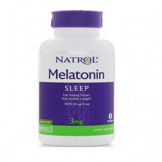 NATROL MELATONINA 3MG 240 TABLETAS