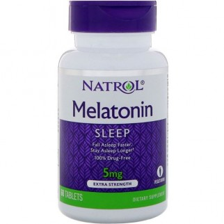 NATROL MELATONINA 5MG 60 TABLETAS