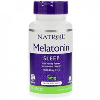 NATROL MELATONINA 5MG TIME RELEASE 100 TABLETAS