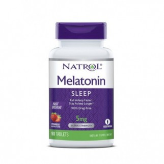 NATROL MELATONINA 5MG F/D  90 TABLETAS FRESA