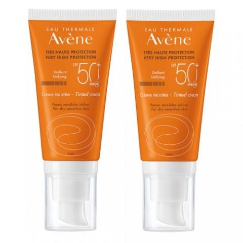 AVENE SOLAIRE CREME TEINTEE 50+ 50ML - PACK DE 2