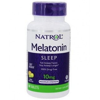 NATROL MELATONINA 10MG F/D 60 TABLETAS SABOR LIMON