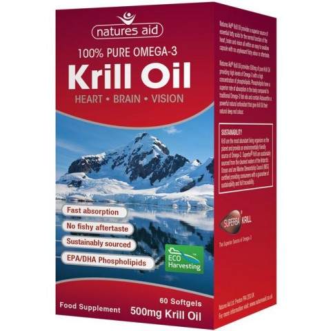 NATURES AID KRILL OIL 500MG 60TAB