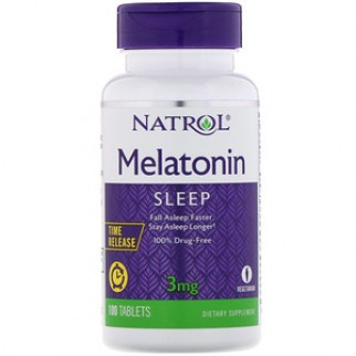 NATROL MELATONINA 3MG TIME RELEASE 100 TABLETAS