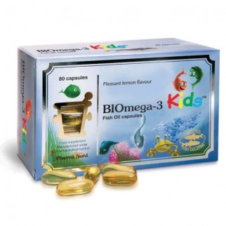 PHARMA NORD BIOMEGA-3 KIDS FISH OIL 1000MG 80 CAPSULAS