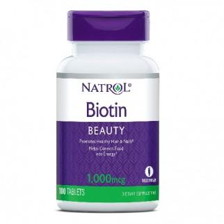 NATROL BIOTIN BEAUTY 1000MCG 100 TABLETAS