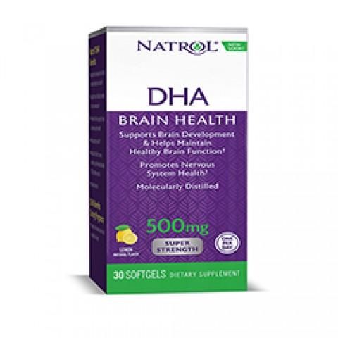 NATROL DHA 500 SUPER STRENGTH 30 CAPSULAS BLANDAS