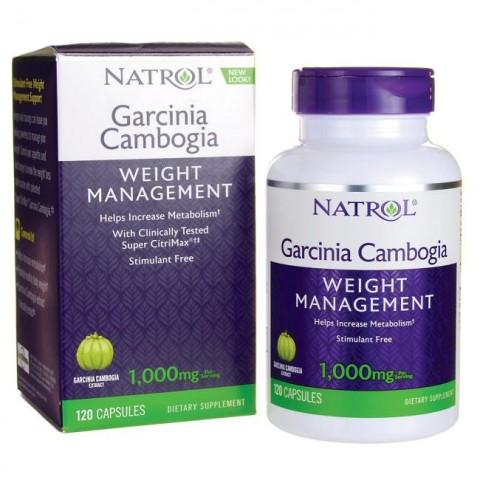 NATROL GARCINIA CAMBOGIA WEIGHT MANAGEMENT 120 CAPSULES 1000MG