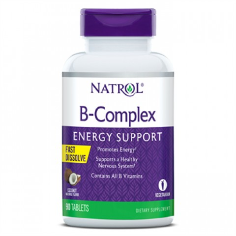 NATROL B COMPLEX ENERGY SUPPORT HFF V5 F/D 90 TABLETAS COCO
